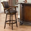 Wildon Home   Flower Mound Barstool in Cherry
