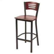 KFI Seating Mahogany 30'' Bar Stool