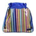 Hadaki Multitasking Water-Resistant Drawstring Pouch; Cobalt Stripes
