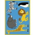 TayseRugs Life Animals Kids Rug; 3'11'' x 5'3''