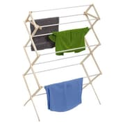 Honey Can Do 29 Linear Feet Knockdown Drying Rack in White/Natural