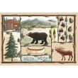 Custom Printed Rugs Home Accents Cabin Novelty Rug; 37'' x 52'' x 0.125''