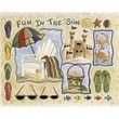 Custom Printed Rugs Home Accents Fun in The Sun Novelty Rug; 37'' x 52'' x 0.125''
