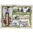 Custom Printed Rugs Home Accents Tee Time Novelty Rug; 37'' x 52'' x 0.125''