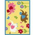TayseRugs Life Animals Kids Rug; 5'3'' x 7'3''