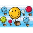 Fun Rugs Smiley World Hot Air Balloon Kids Rug; 19'' x 29''