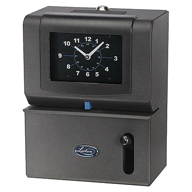 Lathem® Manual Time Recorder, Charcoal