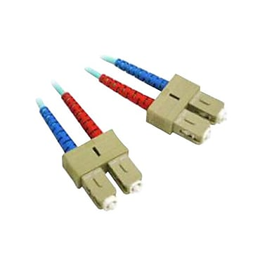 C2G® SC-SC Multimode Fiber Optic Cable, Aqua