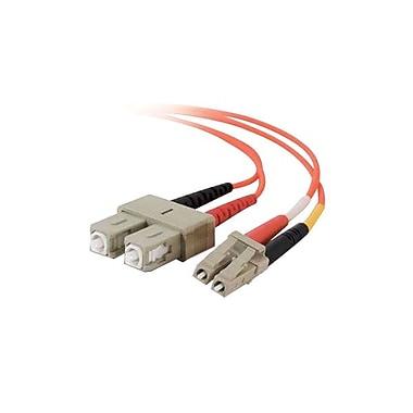 C2GMD – Câble à fibre optique multimode, 15 m, orange