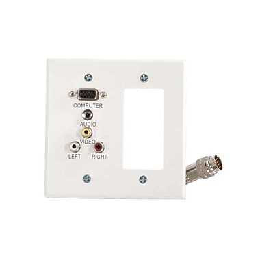 C2G® White Wall Plate