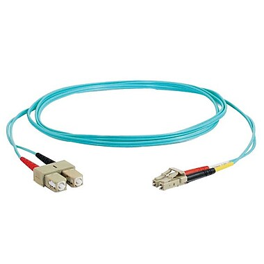 C2G® Fiber Optic Cable, 30m, Aqua