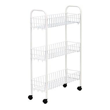 Household Essentials® Slimline 3-Tier Storage Utility Cart, White