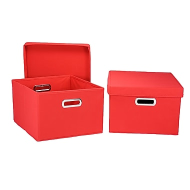 Household Essentials® Hard-Side Nested Box With Lid, Red