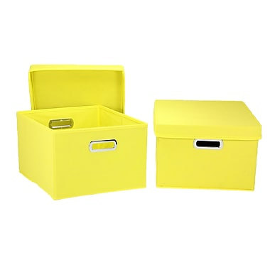 Household Essentials® Hard-Side Nested Box With Lid, Yellow