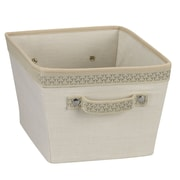 Household Essentials® Decorative Trim Small Storage Bin, Ivory