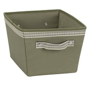 Household Essentials® Decorative Trim Small Storage Bin, Green Olive