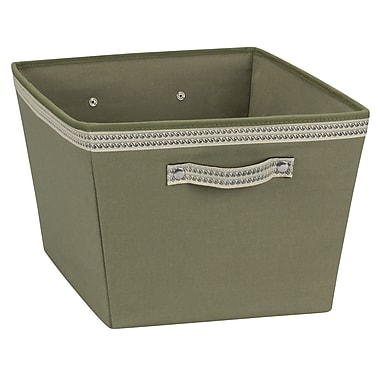 Household Essentials® Decorative Trim Medium Storage Bin, Green Olive