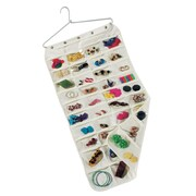 Household Essentials Jewelry Organizer With Hanger and 80 Pockets, Natural