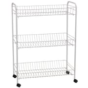 Household Essentials® 3-Tier Wide Jumbo Cart With Casters, White