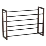 Household Essentials® 3-Tier Expandable Shoe Rack, Mahogany/Black