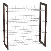 Household Essentials® 4-Tier Shoe Shelf, Mahogany