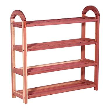 Household Essentials® Cedar Shoe Rack, Red