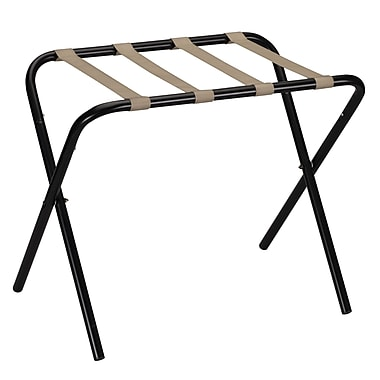 Household Essentials® Luggage Rack, Black/Tan