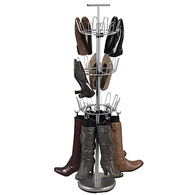 Household Essentials Boot Tree With Boot Shapers, Satin Silver