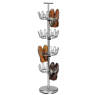 Household Essentials® 4-Tier Shoe Tree, Satin Nickel
