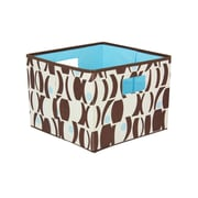 Household Essentials® Bright Color Two-Toned Open Storage Bins, Brown/ Blue