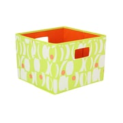 Household Essentials® Bright Color Two-Toned Open Storage Bin, Lime/ Melon