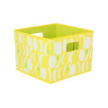 Household Essentials® Bright Color Two-Toned Open Storage Bins, Yellow/ Lime