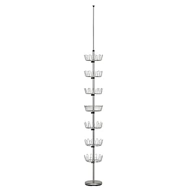 Household Essentials® Floor-To-Ceiling Shoe Tree, Satin Silver