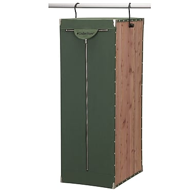 Household Essentials® Design Trend® CedarStow™ Hanging Suit Bag, Green