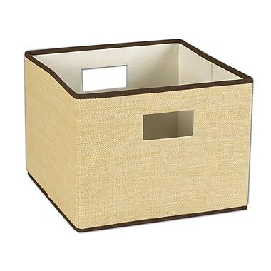 Household Essentials® Resin Weave Dual Handle Storage Bin, Wheat
