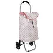 Household Essentials® Small Cart, White/Pink Dot