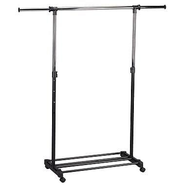 Household Essentials® 41.4in. to 69.8in. Extendable Garment Rack, Chrome/Black