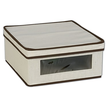 Household Essentials® Small Vision® Storage Box, Natural/Brown
