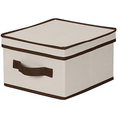 Household Essentials® Medium Storage Box With Coffee Trim, Natural
