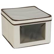 Household Essentials® Medium Vision® Storage Box, Natural/Brown