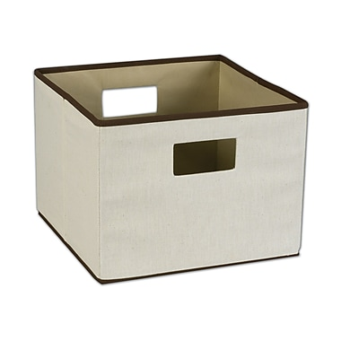 Household Essentials® Storage Bin With Handle, Natural/Brown
