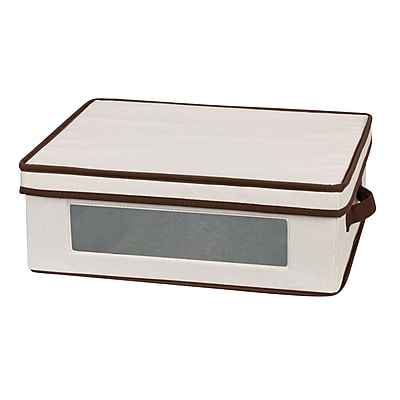 Household Essentials Coffee Cup Storage Chest, Natural 37791