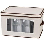 Household Essentials® Stemware Balloon Storage Chest, Natural