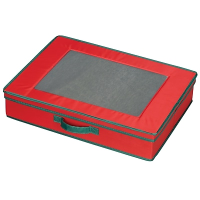 Household Essentials Holiday China Table Top Chest, Red/Green 37464