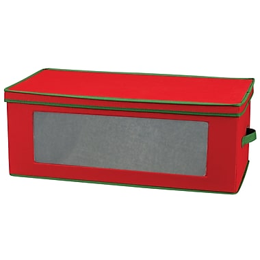 Household Essentials® 36-Piece Ornament Storage Box, Red