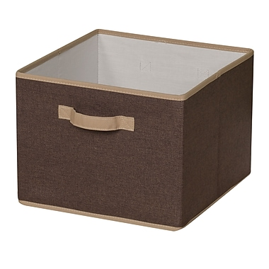 Household Essentials® Storage Bin With Cloth Handle, Coffee/Cream