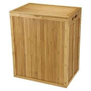 Household Essentials® Folding Bamboo Hamper With Lid