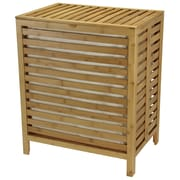 Household Essentials® Open-Slat Hamper, Natural Bamboo