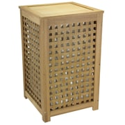Household Essentials® Oak Lattice Hamper, Barnwood Finish