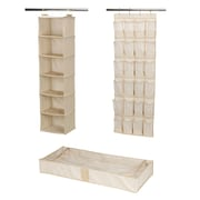 Household Essentials® 3-Piece Closet Storage Set, Ivory